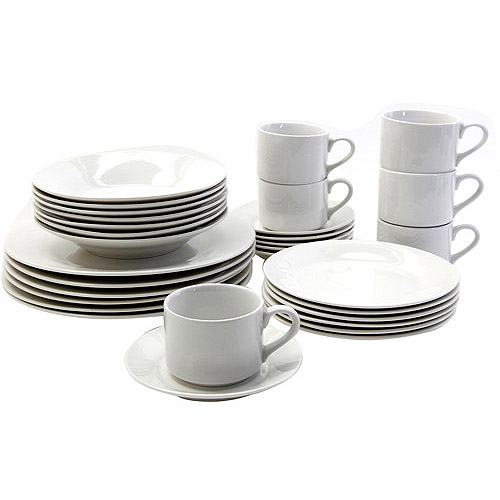 Gibson Rosendal 30-Piece Expanded Dinnerware Set, Service for 6
