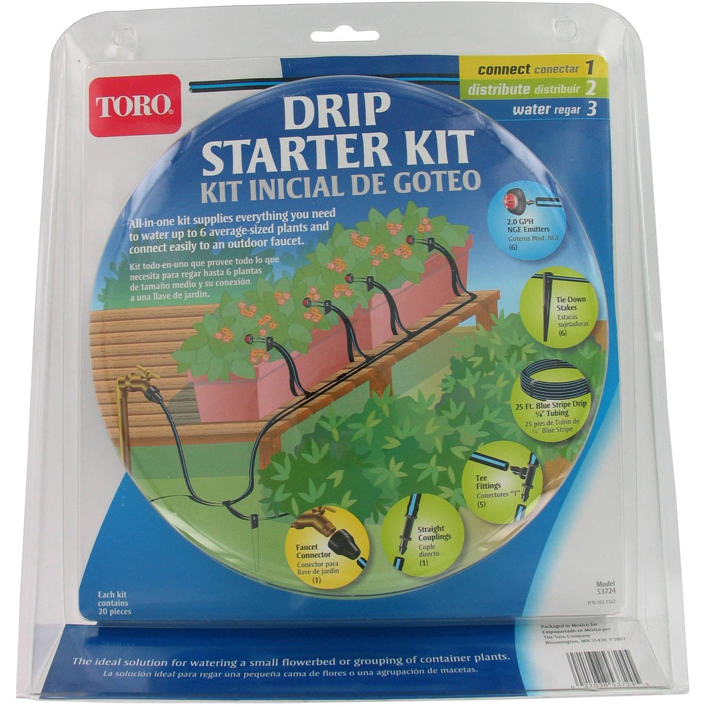 Toro 53724 Blue Stripe Drip Starter Kit