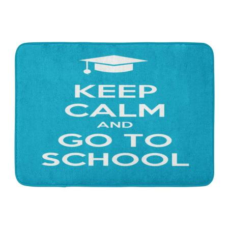 KDAGR Classroom Keep Calm and Go to School Student Teaching Creative Doormat Floor Rug Bath Mat 23.6x15.7 inch (Classroom Door)