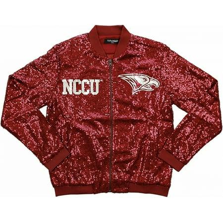 Big Boy North Carolina Central Eagles Ladies Sequins Jacket [Maroon - - Eagle Vest