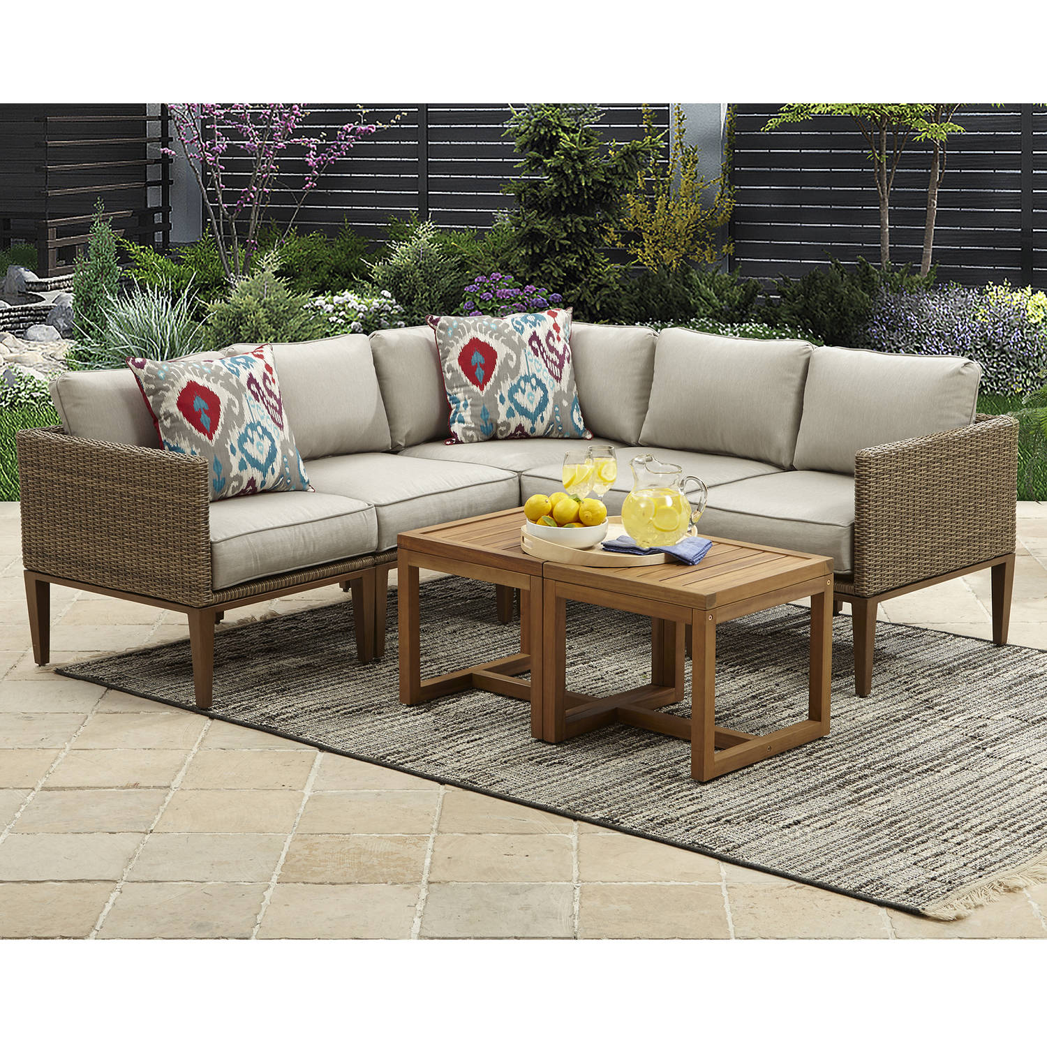 outdoor sectional. Perfect Sectional Better Homes And Gardens Davenport 7Piece Woven Outdoor Sectional Set For R