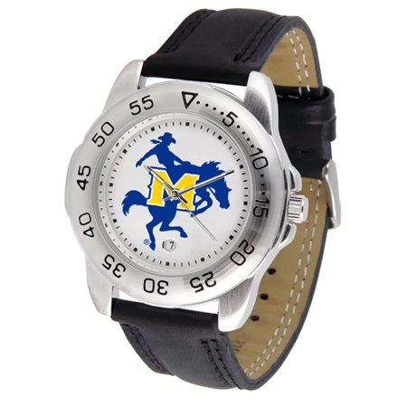 "Mcneese State Cowboys NCAA ""Sport"" Mens Watch (Leather Band)"
