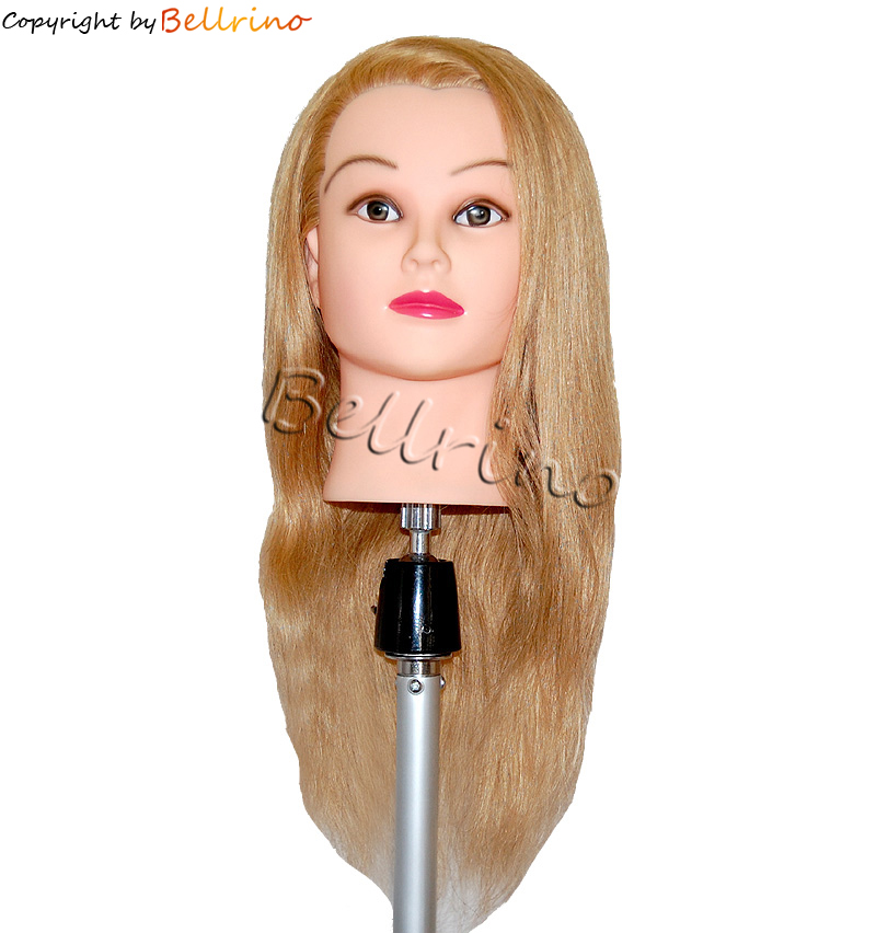 "Bellrino 24 "" Cosmetology Mannequin Manikin Training Head with Human Hair - Amelia"