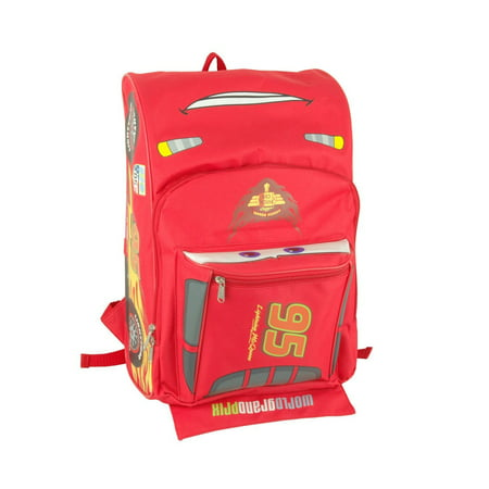 Backpack - Disney - Cars - Lightning Mcqueen Shape Large Bag New 625597 - Disney Cars Lightning Mcqueen