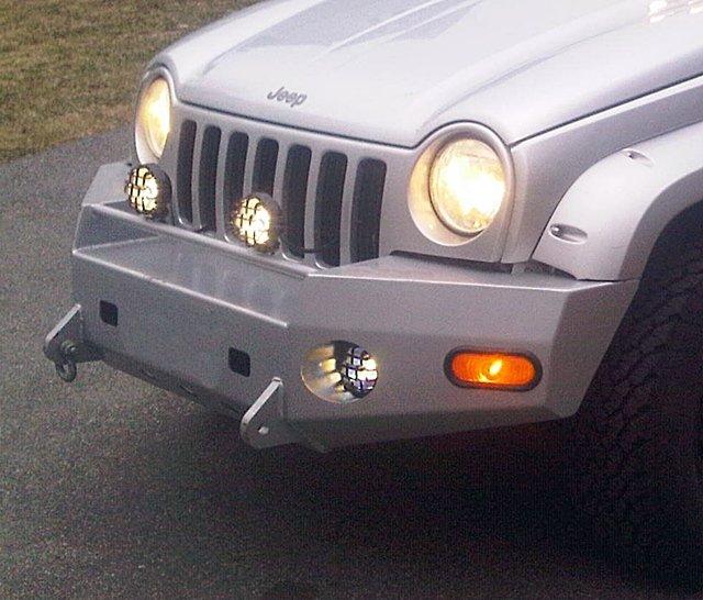Jeep Liberty KJ KK Wincher Metal Bumper PIAA 510 Light Kit by BlingLights