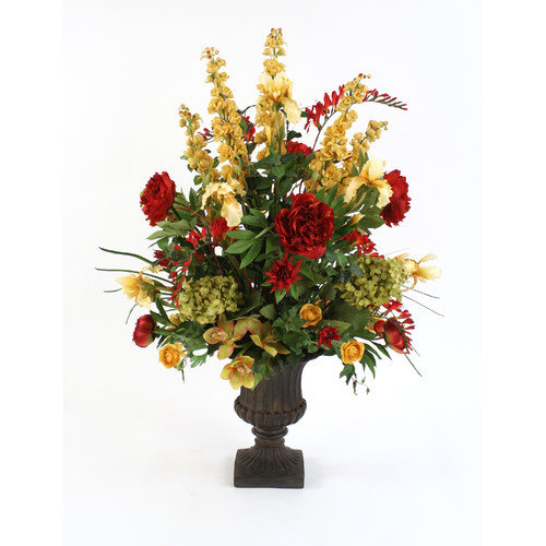 Distinctive Designs Large Silk Mix of Florals in Classic Urn