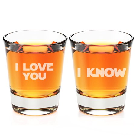 I Love You and I Know Engraved Fluted Shot Glass