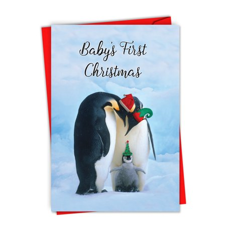 Baby's First Christmas - 12 Christmas Cards for Parents (with Envelopes) - Newborn Xmas Greetings ()