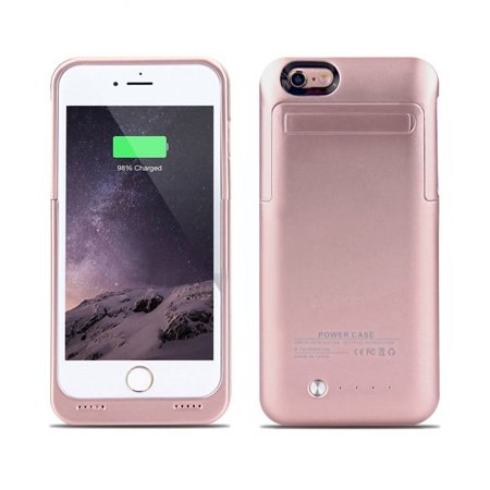 IPhone 6 / 6S External Battery Backup Case Charger Power Bank 3500mAh Stand Rose Gold (NOT FOR IPHONE 6 PLUS /6S (Best Case For Gold Iphone)