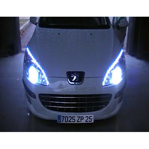 Peugeot 407 led strip lights for headlamps headlights head lamps peugeot 407 led strip lights for headlamps headlights head lamps drls strips saloon coup estate walmart aloadofball Image collections