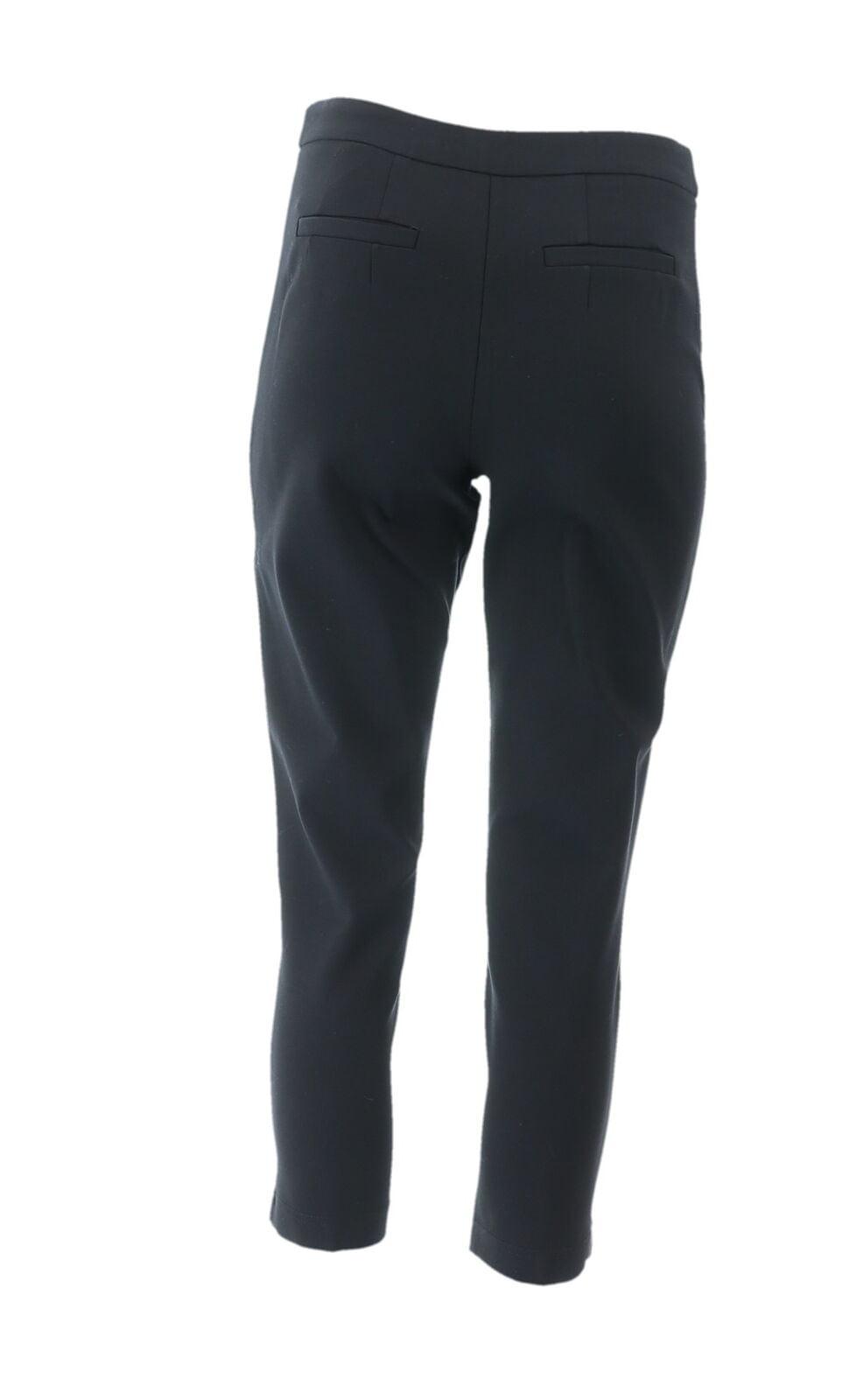 Joan Rivers Petite Signature Ankle Pants Front Seam Black P2X NEW A300847