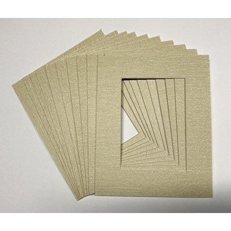 """Canvas Linen Texture Photo Mat - Beige 25.5cm x 30.5cm (10""""x12"""") for 20.5cm x 25.5cm (8""""x10"""") Photos - Fits 25.5cm x 30. - image 1 de 1"""