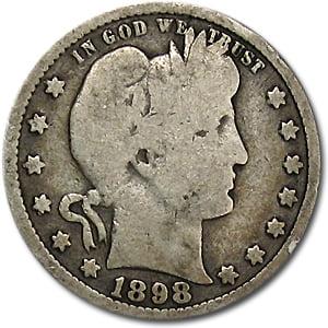 1898 Barber Quarter Good/VG