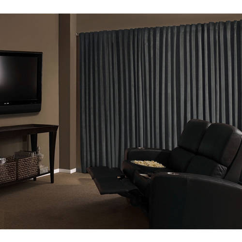 Absolute Zero Velvet Room Darkening Home Theater Curtain Panel by Ellery Homestyles