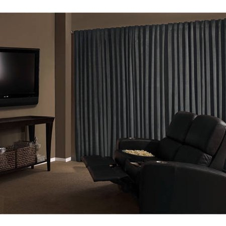 (Absolute Zero Velvet Room Darkening Home Theater Curtain Panel)