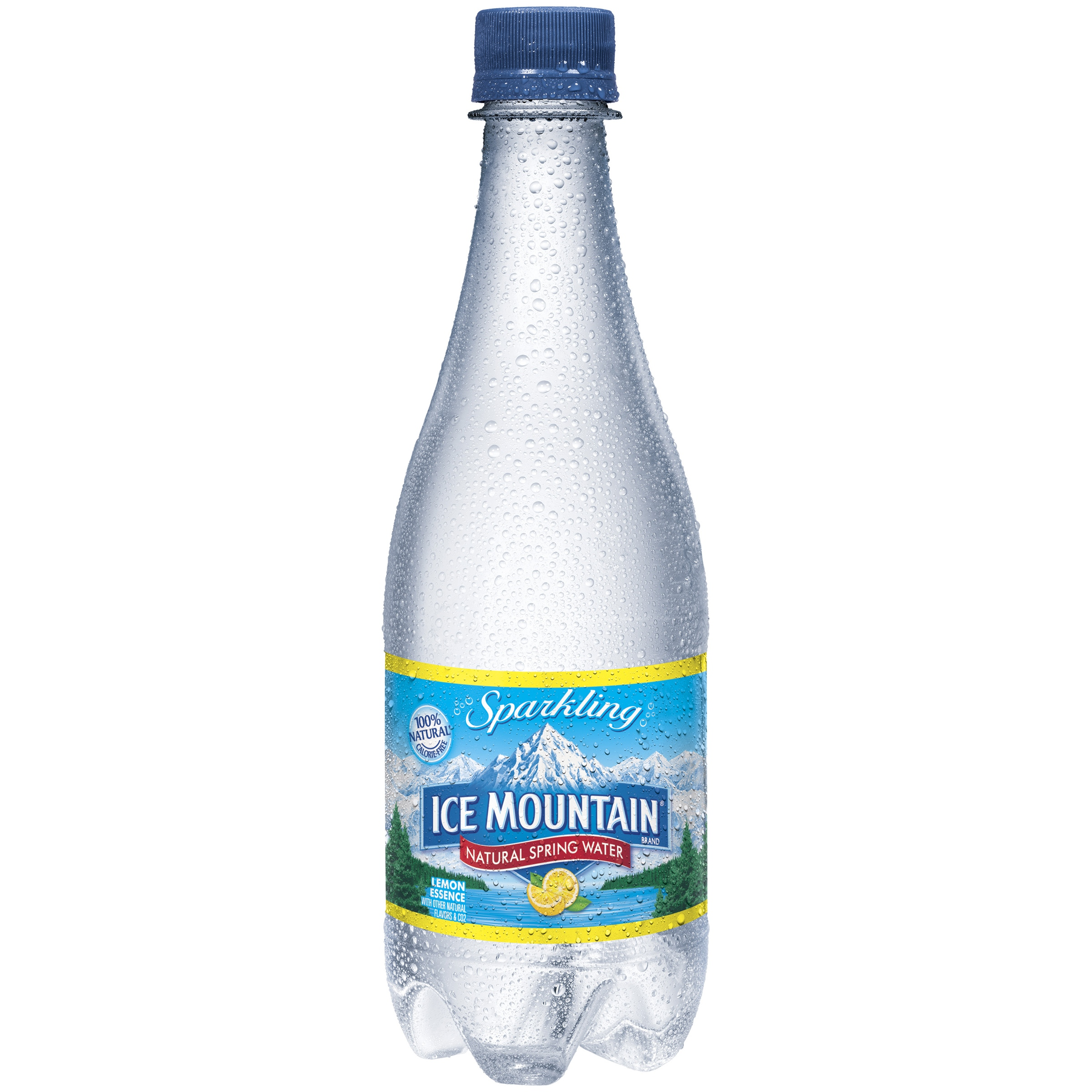 Ice Mountain Sparkling Natural Spring Water Lemon Essence 0.5L Plastic Bottle by Nestle Waters of North America