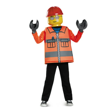 Diy Construction Worker Halloween Costume (Lego Iconic - Construction Worker Classic Child)