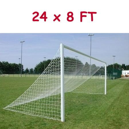 24x8FT Football Net Soccer Goal Post Nets Full Size Flat Back (Net Only) (Foot Ball Goal Post)