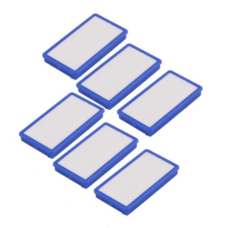 Unique Bargains 6pcs Household Refrigerator Blackboard Plastic Rectangle Design Blue Fridge - Water Rectangle Magnet