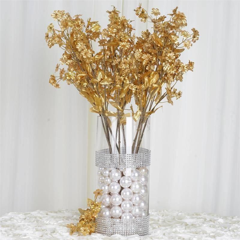 BalsaCircle 12 Bushes Baby Breath Silk Filler Flowers - DIY Home Wedding Party Artificial Bouquets Arrangements Centerpieces