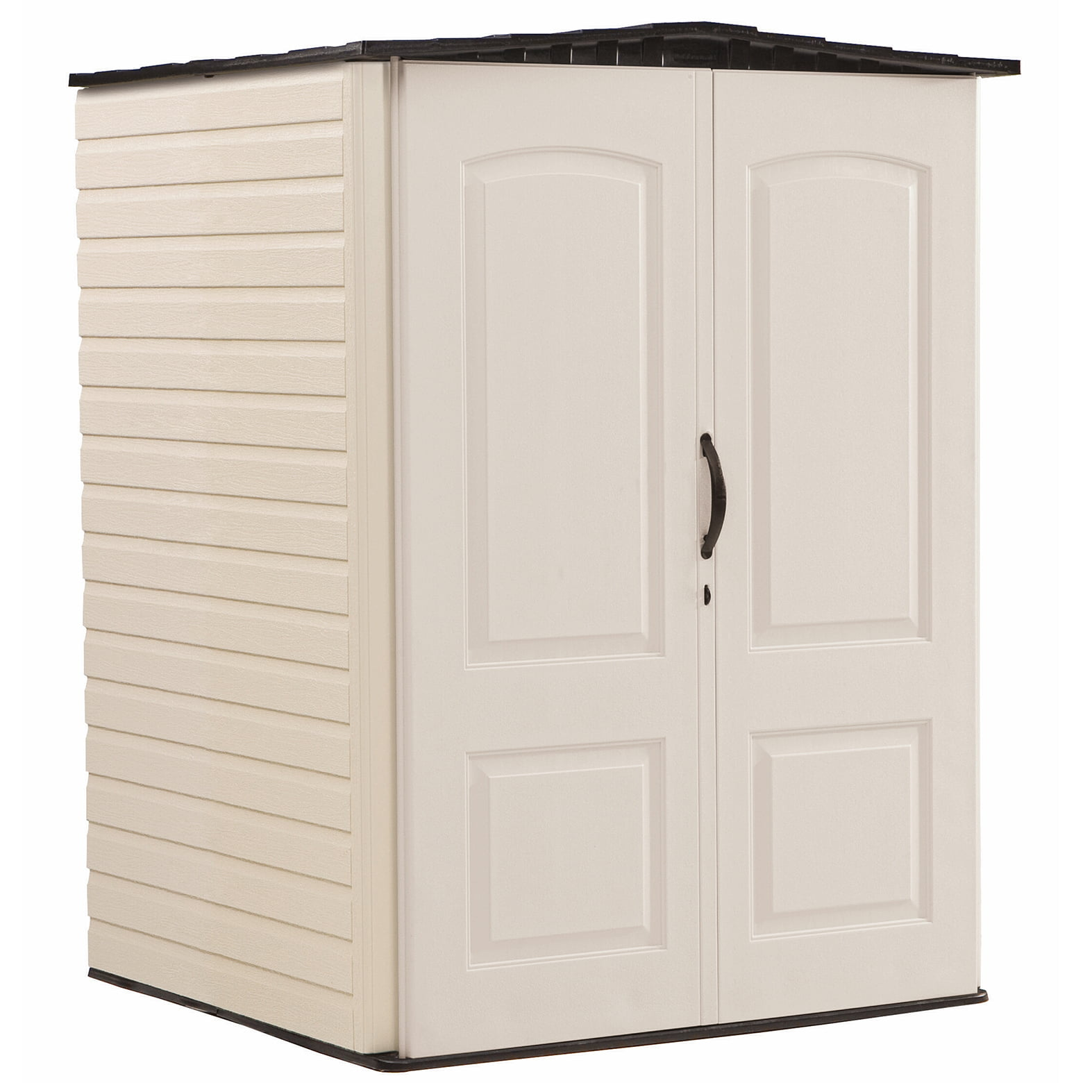 Rubbermaid 5 x 4 ft Medium Storage Shed, Sandstone & Onyx by Rubbermaid Home Products