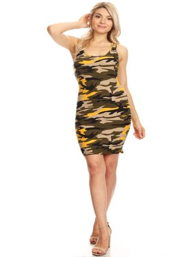 c6ec3cba06b0 Product Image MOA COLLECTION Women s Solid Casual Basic Comfy Sexy  Racer-Back Bodycon Midi Dress Made
