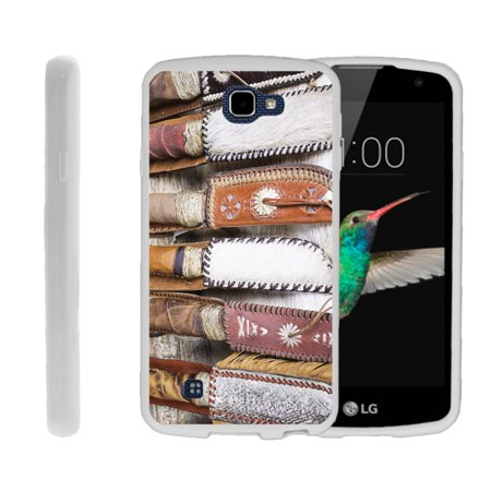 LG K4, LG Rebel LTE, LG Spree, LG Optimus Zone 3, Flexible Case [FLEX FORCE] Slim Durable TPU Sleek Bumper with Unique Designs - Leather