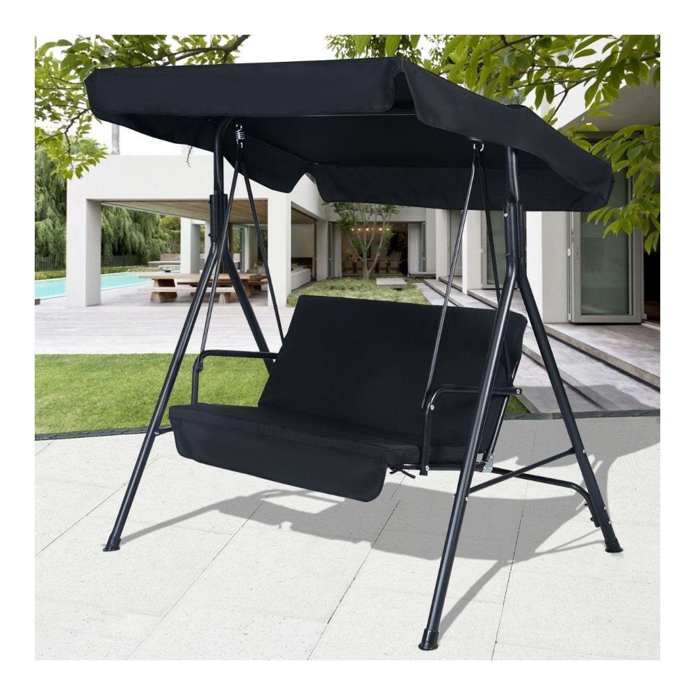Black Outdoor Patio Swing Canopy Awning Yard Furniture Ha. & Awning material by the yard | Compare Prices at Nextag