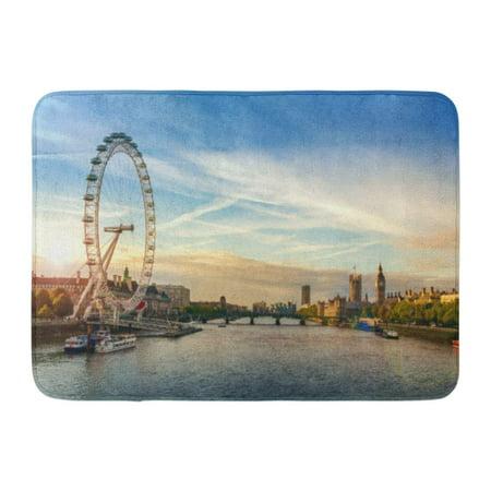 GODPOK Skyline Day London Morning Sunrise Sun Thames Rug Doormat Bath Mat 23.6x15.7 (T2 Stores London)