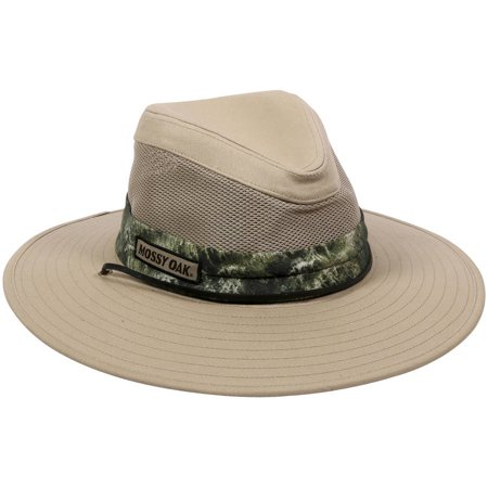 Mossy Oak Casual Mesh Safari Hat, Mossy Oak Mountain Country Range Camo - Mountain Dog Hat