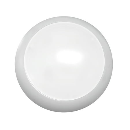 NICOR Lighting 5/6-Inch Dimmable Driverless 3000K LED Surface Mount Downlight, Matte White Trim - Surface Downlight