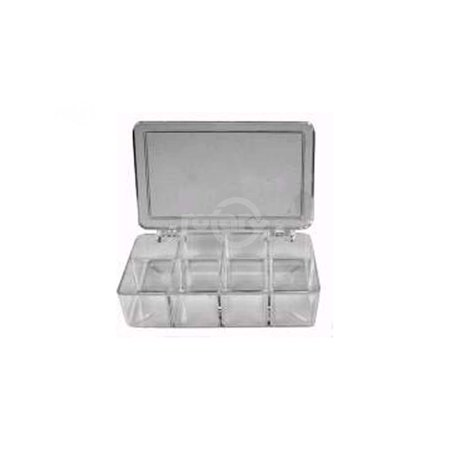 Plastic Box used with Rotary #1572 Assortment.  (8 compartments).