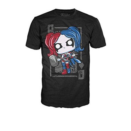 Funko A00139-10048-MSM-BLK Pop Tees: DC - Harley Diamond Queen - Small](Small Harley)