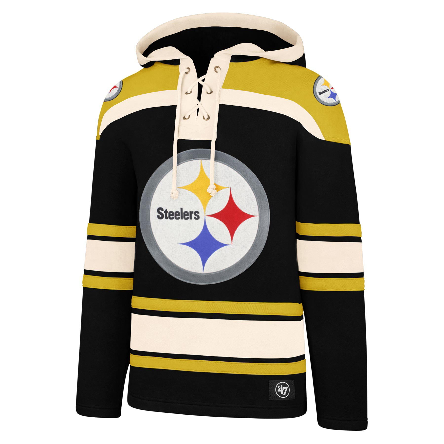 promo code abb21 f15ea Pittsburgh Steelers NFL '47 Heavyweight Jersey Lacer Hoodie ...