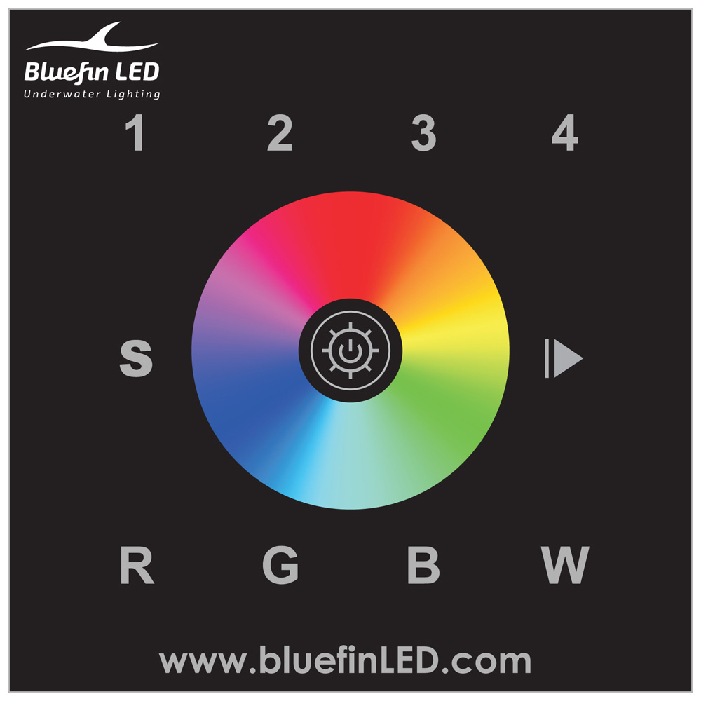 BLUEFIN LED DMX CONTROLER FOR COLOR CHANGE LIGHTS RGBW-CC