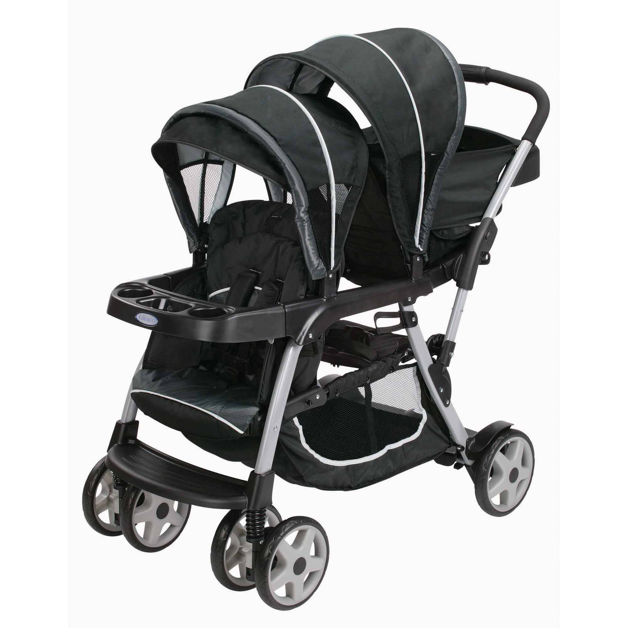 Graco Ready2Grow Click Connect LX Double Stroller, Gotham by Graco