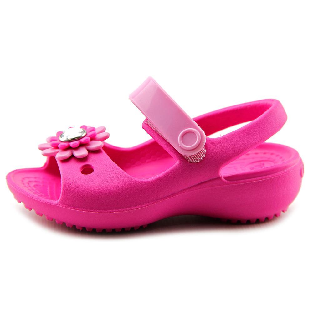 7b59042473a22 Crocs - Crocs Keeley Mini Wedge Infant US 4 Pink Mary Janes - Walmart.com