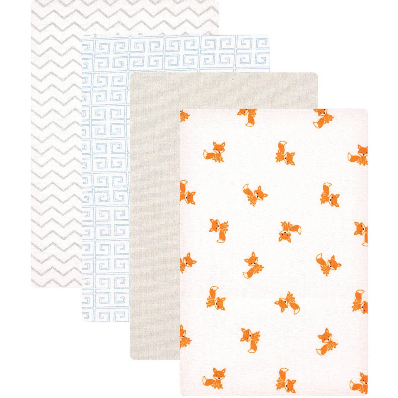 Luvable Friends Receiving Blankets Flannel, 4pk, Fox