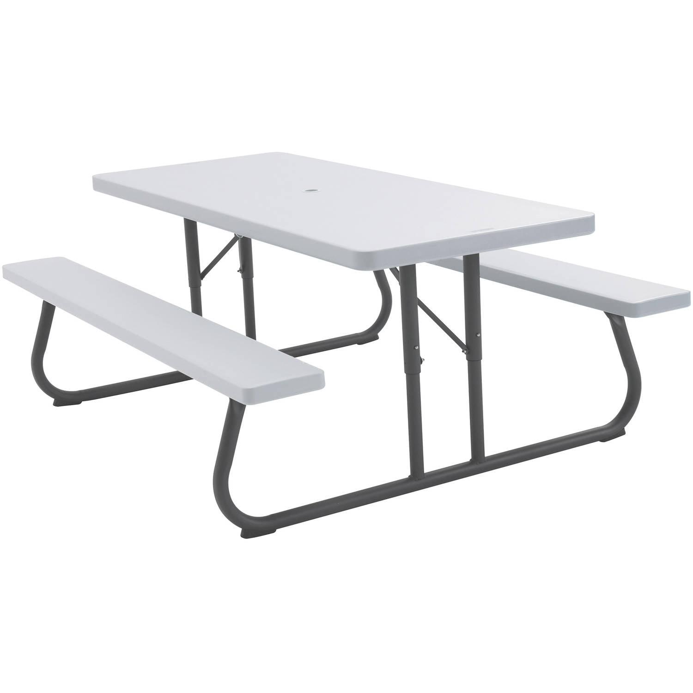 Lifetime 6' Picnic Table, White Granite
