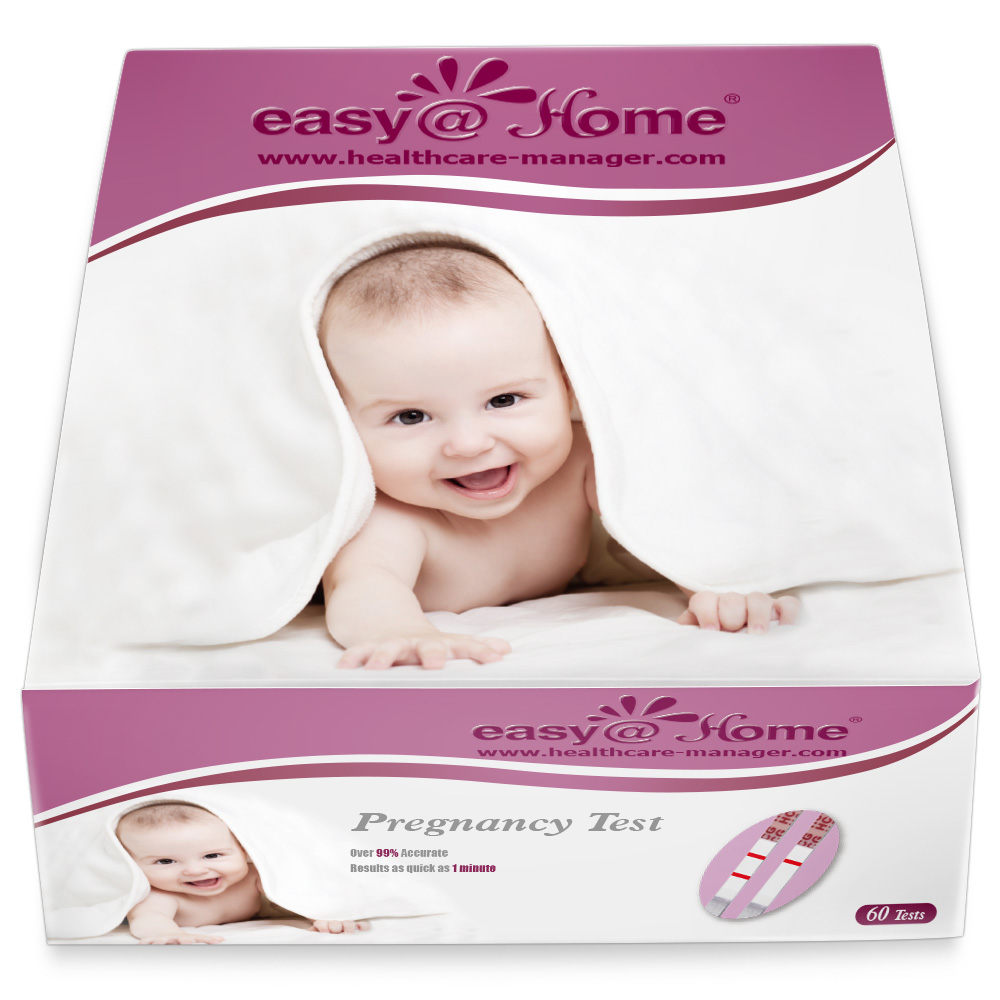 Easy@Home Branded Pregnancy Test, 60 count