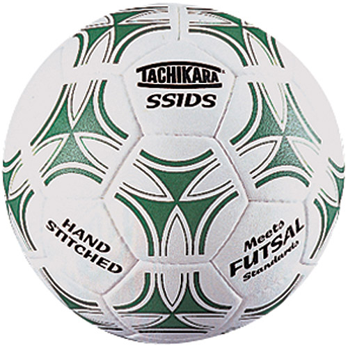 Tachikara SSIDS Man-Made Leather Indoor Soccer Ball, Green/White