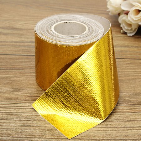 High-Temperature Heat Reflective Adhesive Backed Roll Self Adhesive Heat Shield Wrap Tape 354