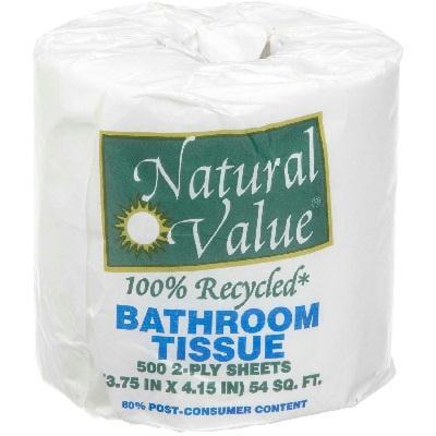 Natural Value Bth Tiss 500 Sht/roll (48x1each)