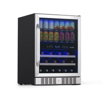 NewAir AWB-400DB Dual Zone Wine/Beverage Cooler and Refrigerator, Stainless Steel