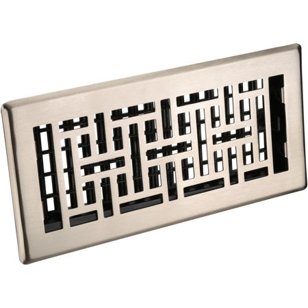 Decor Grates® Oriental™ Steel Plated Nickel Floor Register