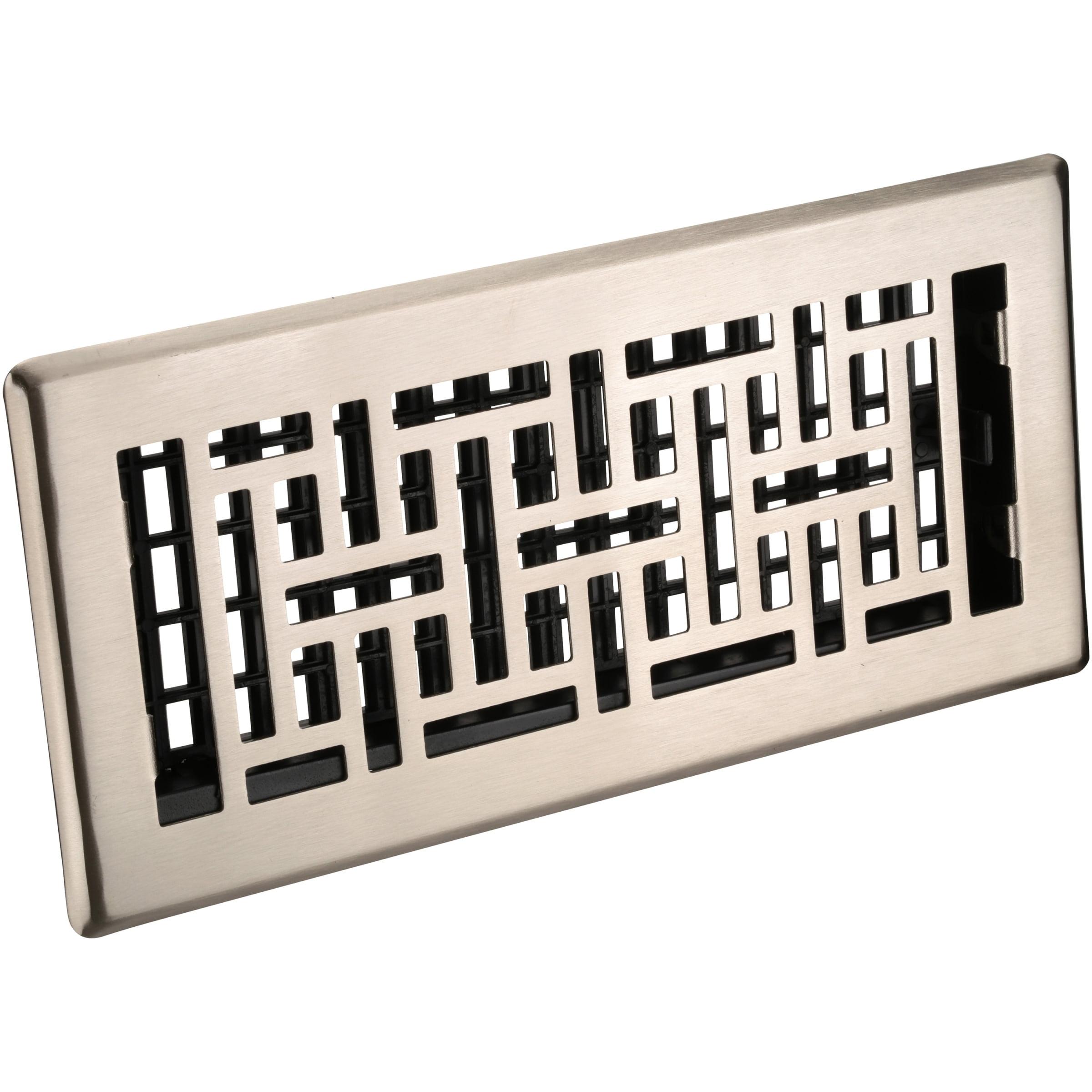 Decor Grates® Oriental™ Steel Plated Nickel Floor Register