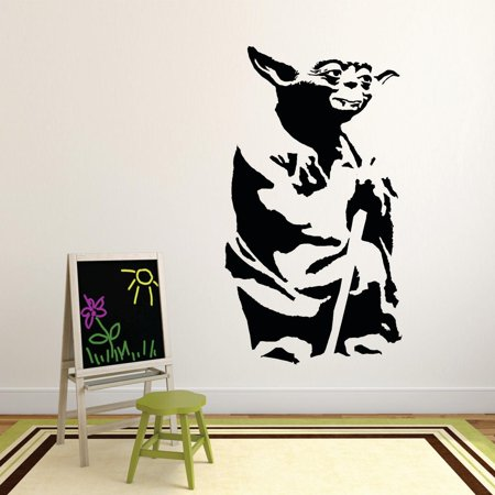 Jedi Master Star Wars Movie Series Children Kids Bedroom Boy Girl Silhouette Custom Wall Decal Vinyl Sticker 12 Inches X 18 Inches](Star Wars Bedroom Decorations)