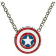 Marvel Stainless Steel Captain America Slider Bead Necklace
