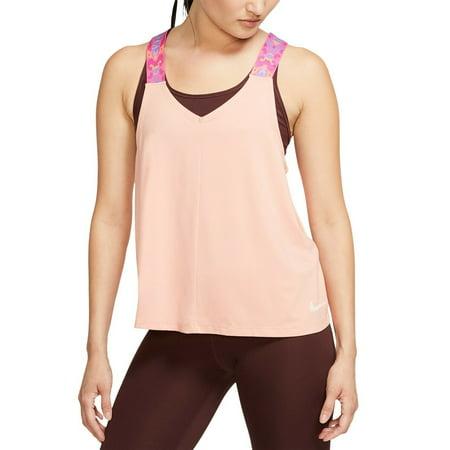 Nike Women's Elastika Dri-fit Racerback Tank Top Size XL Pink