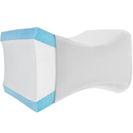 PharMeDoc Knee Wedge Pillow - Orthopedic Leg Wedge Pillow for Side Sleepers with Memory (Best Knee Pillow For Back Sleepers)